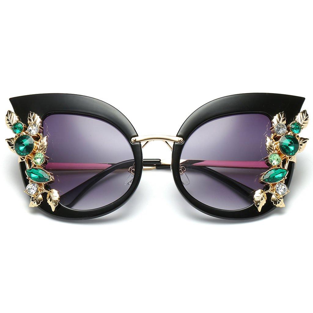 Cat Eye Fashion Sunglasses,Yeahii Creative Women Party Sunglasses Rhinestone Shade Luxury Gradient Brand Designer Sunlasses