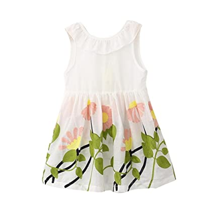 61232ba3dbbb Image Unavailable. Image not available for. Color  Anxinke Kids Girls  Embroidered Sundress Falbala Collar Sleeveless Big Bow Dress ...