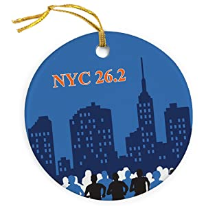Gone For a Run Running Porcelain Ornament   NYC 26.2 Marathon Ornament