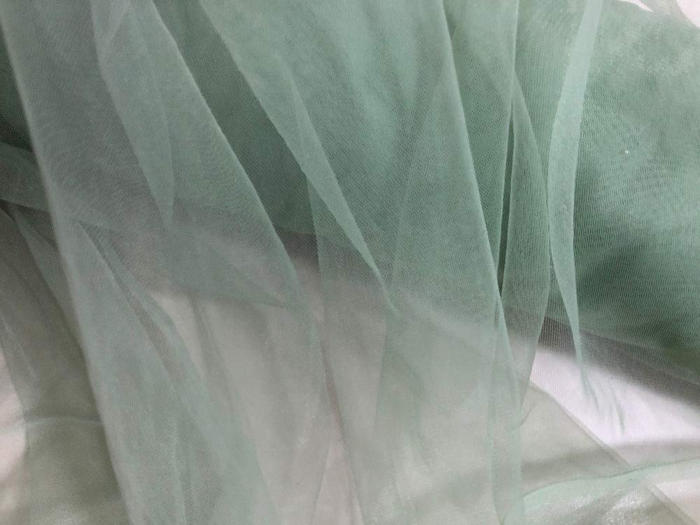 Sage Green 160cm Wide 3Meters//Lot Soft Mesh Tulle Fine Sewing Fabric Cloth Wedding Party Bride Tutu Petticoat Blouse Tops