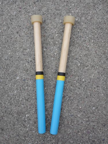 Tips Double Bass Drum (Kakesa Steel Drum Pan Mallets Sticks Wood - Double Seconds)