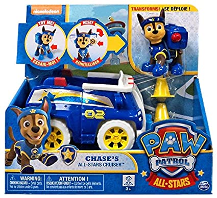 Amazon Com Paw Patrol Chases All Stars Cruiser Toys Games
