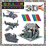 IQ BUILDER | 3D ART COLORING PUZZLES FOR KIDS AND ADULTS | BEST FUN CREATIVE ARTS AND CRAFTS KIT TOY GIFT SET FOR BOYS AND GIRLS AGES 8 9 10 11 12 YEAR OLD | EASY PAINTING STRESS RELAXATION | VEHICLES