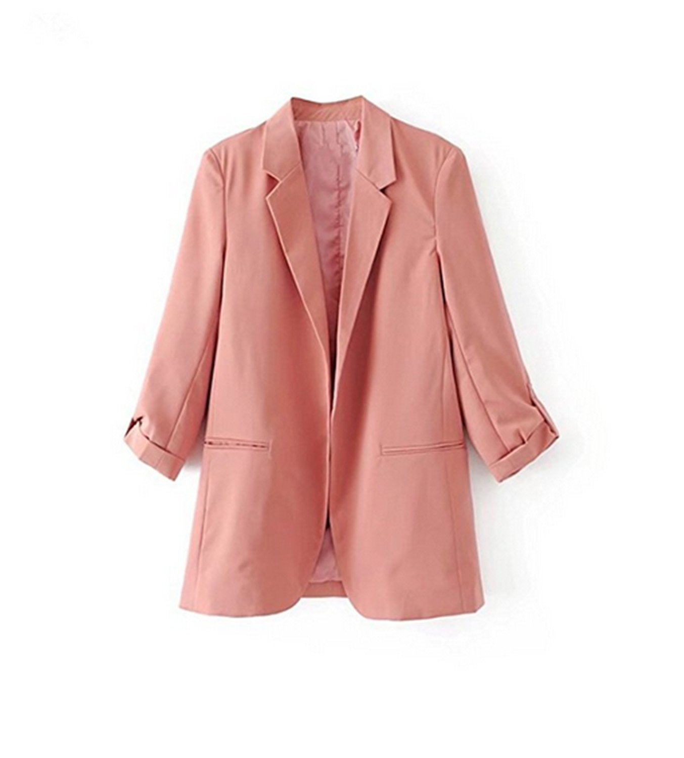 Toping Fine Spring New European Casual Women Blazer Three Quarter Sleeve Lady's Small Suit Coat, XDC7712 BlackMedium by Toping Fine wool-outerwear-coats (Image #1)