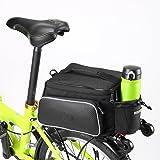 MILKIRAY - Bolsa de transporte para bicicleta, para asiento, cesta o parte trasera