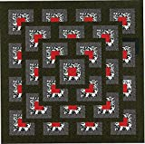 Easy Quilt Kit Boxed Maze!! Red, Black, White/with backing and binding