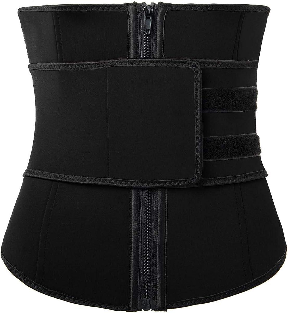 Hot Sweat Neoprene Sauna Shapers Slimming Belt Waist Cincher Girdle for Weight Loss Women /& Men With Zipper