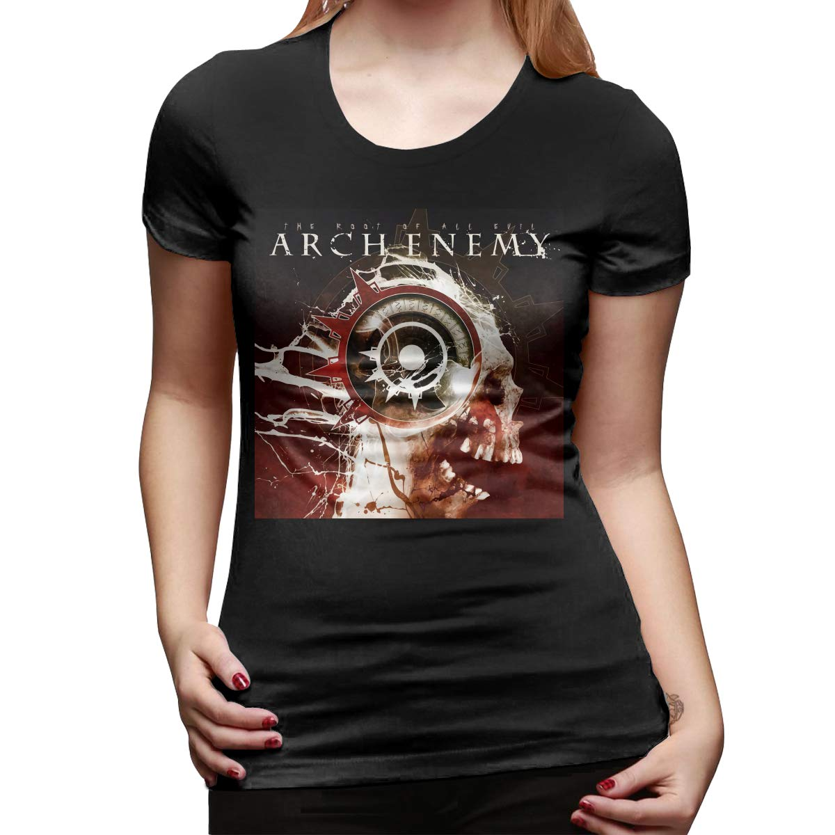Woman Arch Enemy The Root Of All Evil Fashion Trend Short Sleeve Tshirt