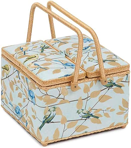 : 16.5 x 29 x 18cm D//W//H Hobby Gift Sewing Box with Fold Over Lid Sewing Bee Design Box Size: