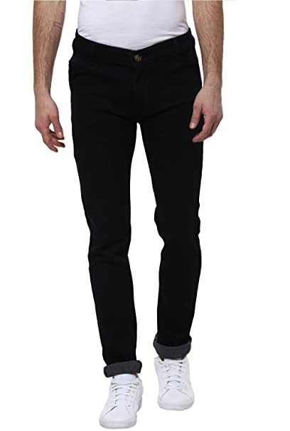 Urbano Fashion Black Slim Fit Stretch Jeans for Men Men's Jeans at amazon