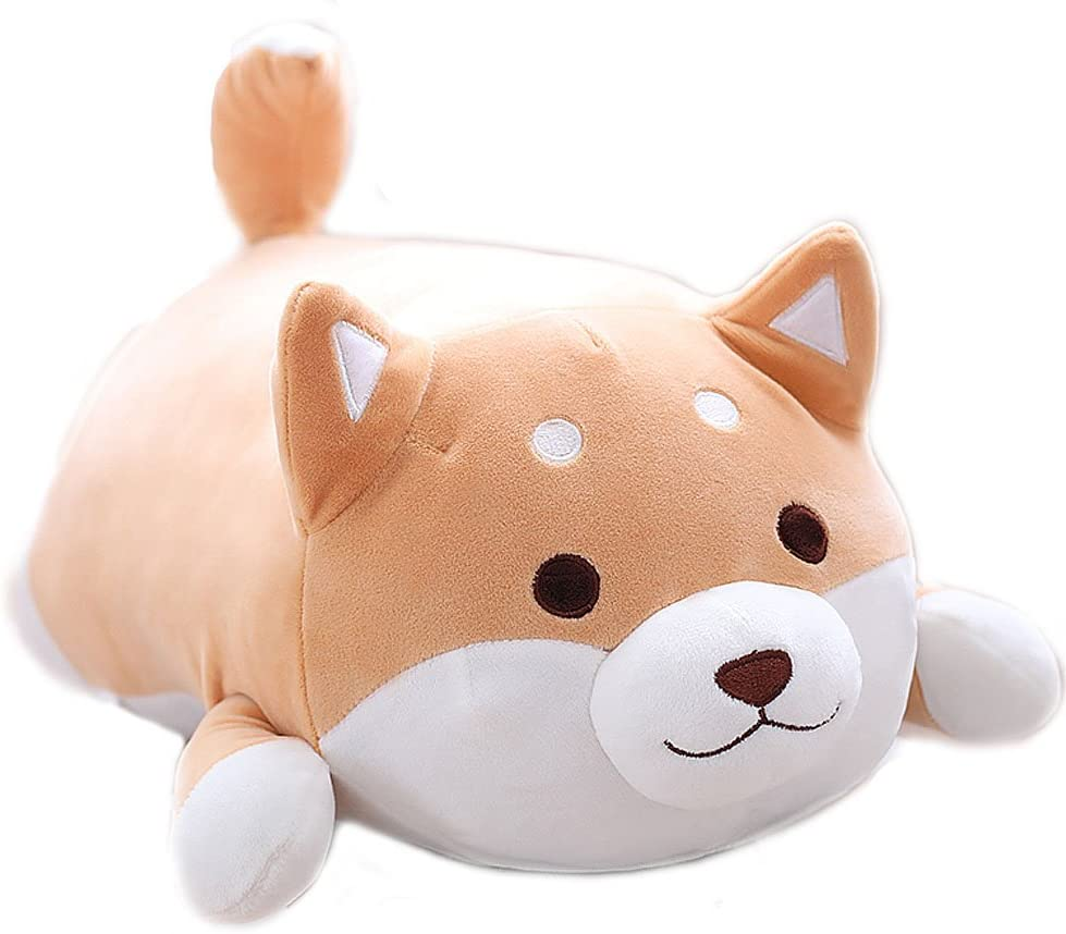 Shiba Inu Dog Soft Plush Throw Pillow Lifelike Animal Pillows Plush Toy for