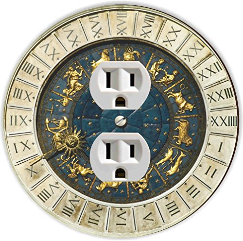 Rikki Knight Zodiac clock at San Marco square in Venice Design Round Single Outlet - San The Outlets Marcos