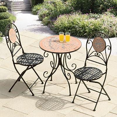 Suntime roto mosaico – Juego de muebles de jardín de hierro ...