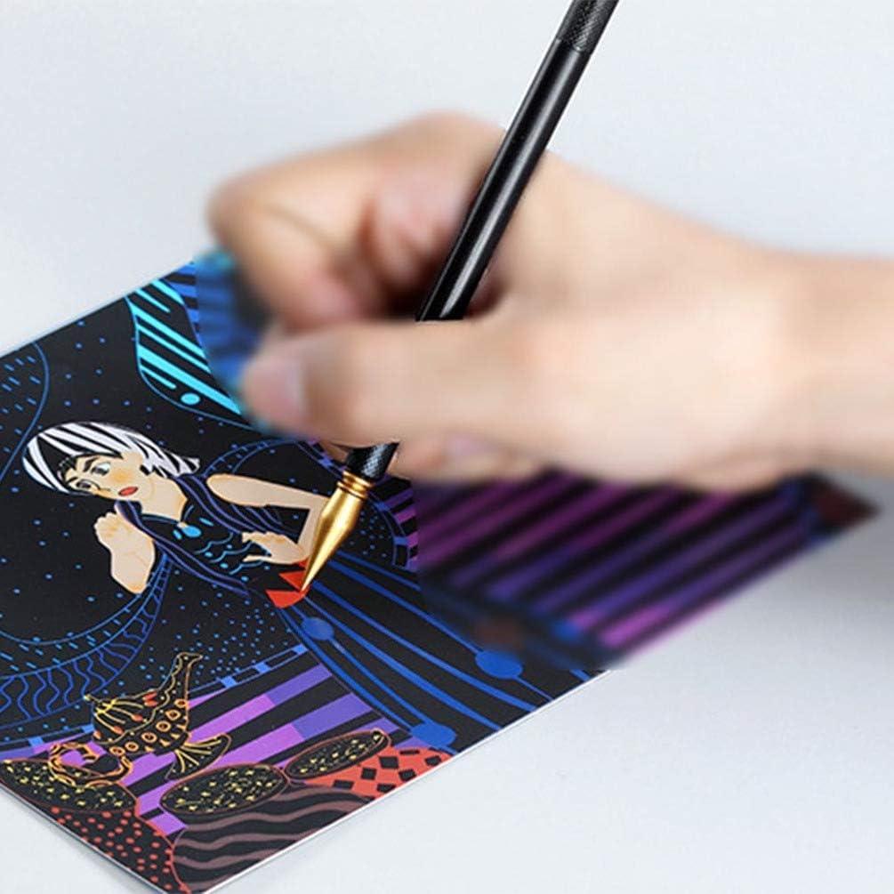 DOITOOL Scratch Tools Scratch Color Pen Stick Scraper for Art Paper Painting 3pcs