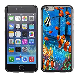 Be Good Phone Accessory // Dura Cáscara cubierta Protectora Caso Carcasa Funda de Protección para Apple Iphone 6 // Fish Painting Underwater Sea Coral Koi