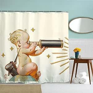 langys bebé con telescopio 3d impermeable cortinas de ...
