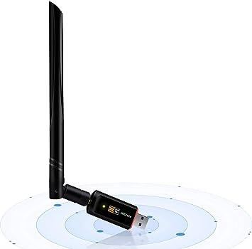 USB Wifi adaptador 1200 Mbps, USB 3.0 inalámbrico Red WiFi Dongle con 5dBi antena para PC/de sobremesa/portátil/tableta, doble banda 2.4 G/5G, 802.11 ...