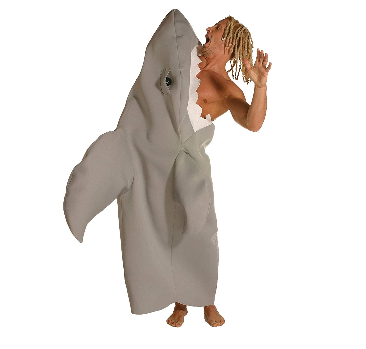 Rasta Imposta Shark Attack Costume, Gray, One Size