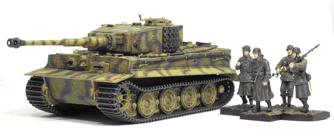 Dragon 500761037 - Tiger I Late Production und Panzergrenadiers 1:35