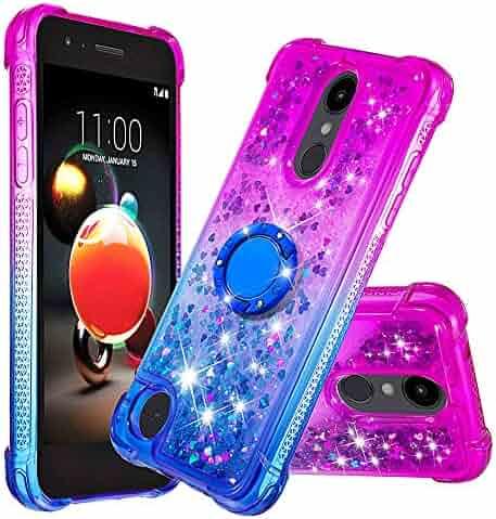 Lomogo Case for LG Rebel 4/Phoenix 4/Zone 4/Risio 3/Aristo 3/2 Glitter Silicone, Shockproof Soft Rubber Bumper Case Non-Slip Back Cover Thin Fit for LG K8 2018 - LOYBO480297 Ring #4