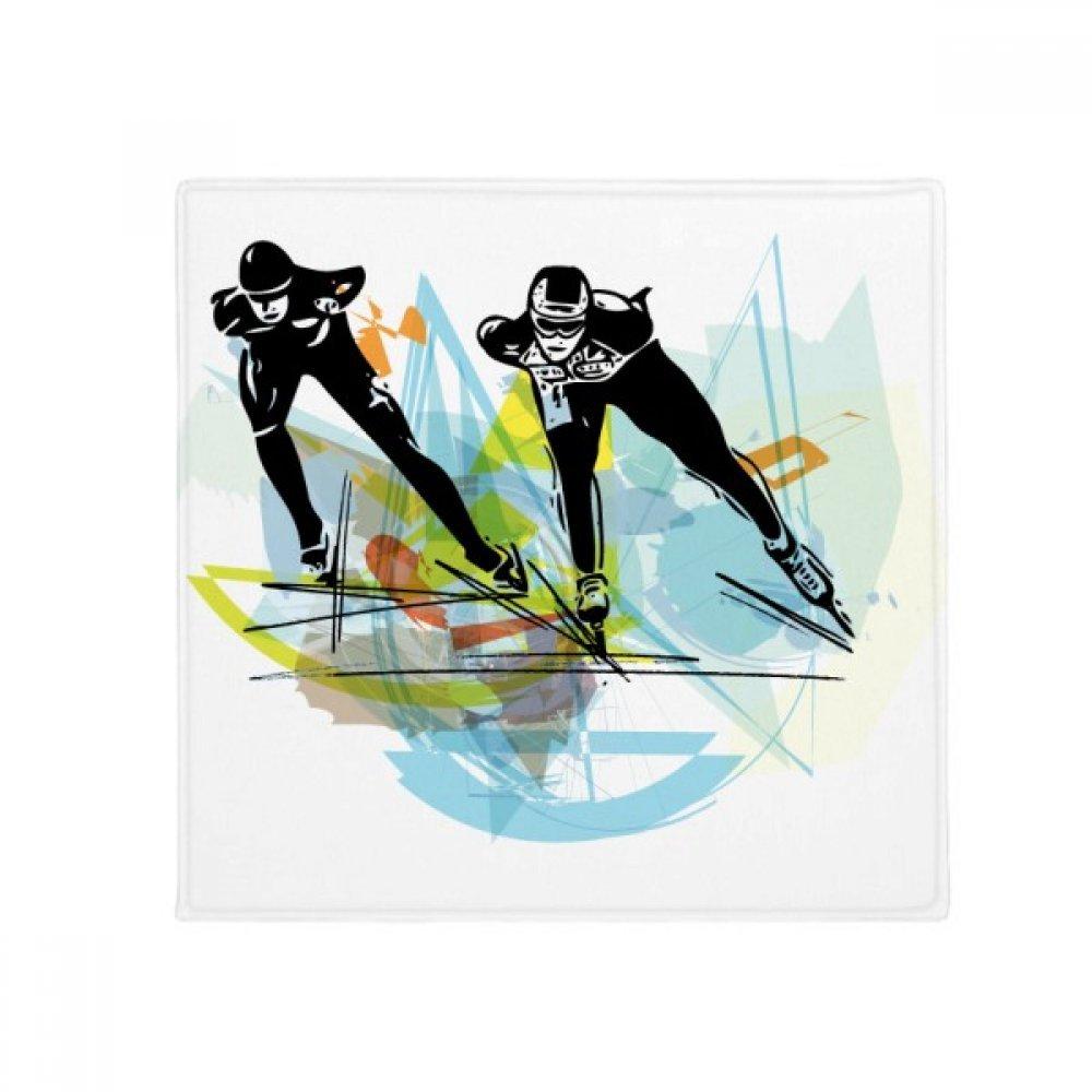 DIYthinker Sport Speed Skating Athletes Watercolor Anti-Slip Floor Pet Mat Square Home Kitchen Door 80Cm Gift