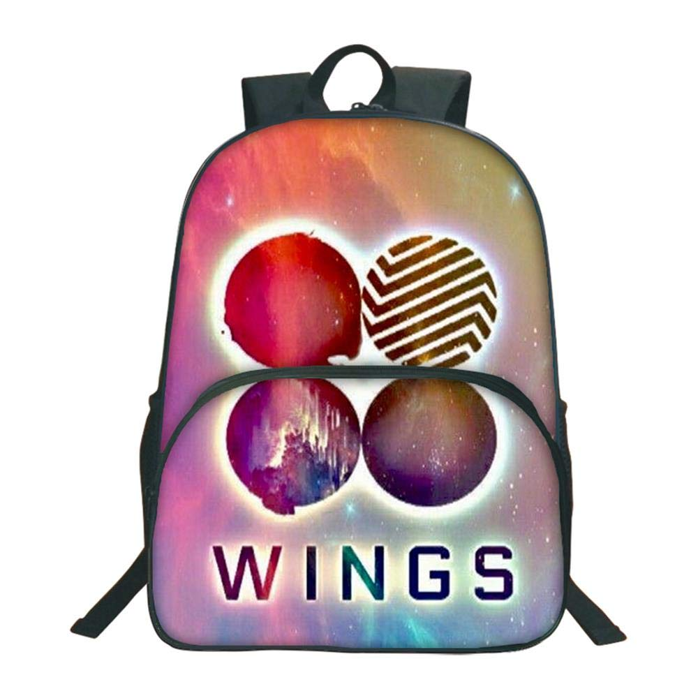BTS Fans Cartoon School School School Backpack Casual School Bag Daypack Stampato per Bambini style9 | Distinctive