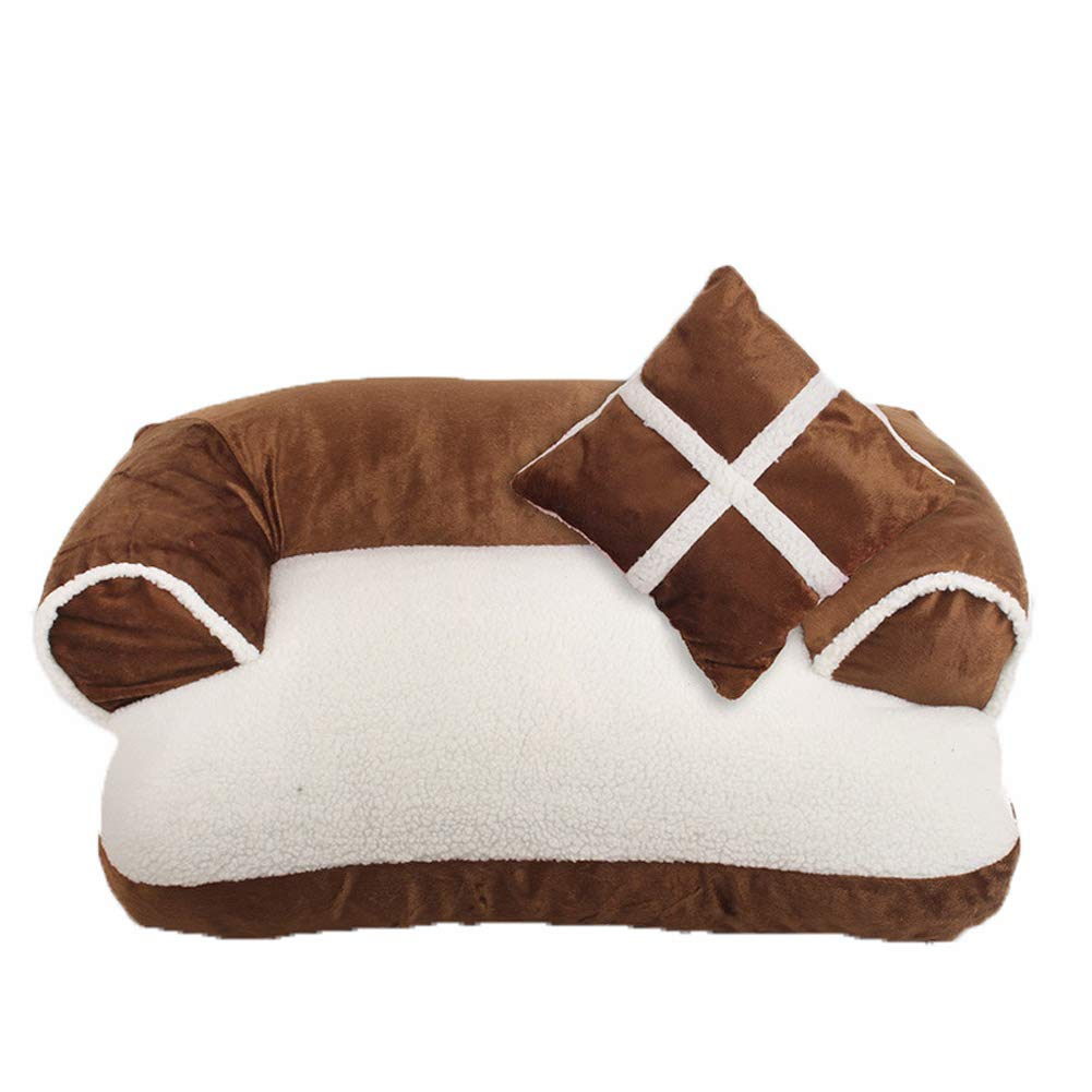 Brown Small Brown Small Cat Bed Cushion Pet Nest Dog Sleeping Mat Perch Hideout House Removable Washable Winter Soft Warm Cave Shape Animal Habitat Furniture Kennel Supplies Indoor Outdoor Foldable Summer,Brown,S