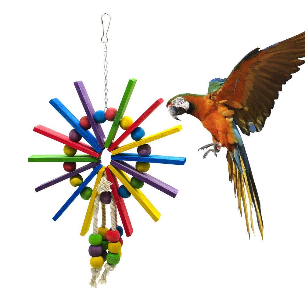 16.5×32cm Pet Online Parred Toy Ferris Wheel bite Bird Toy, 16.5×32cm