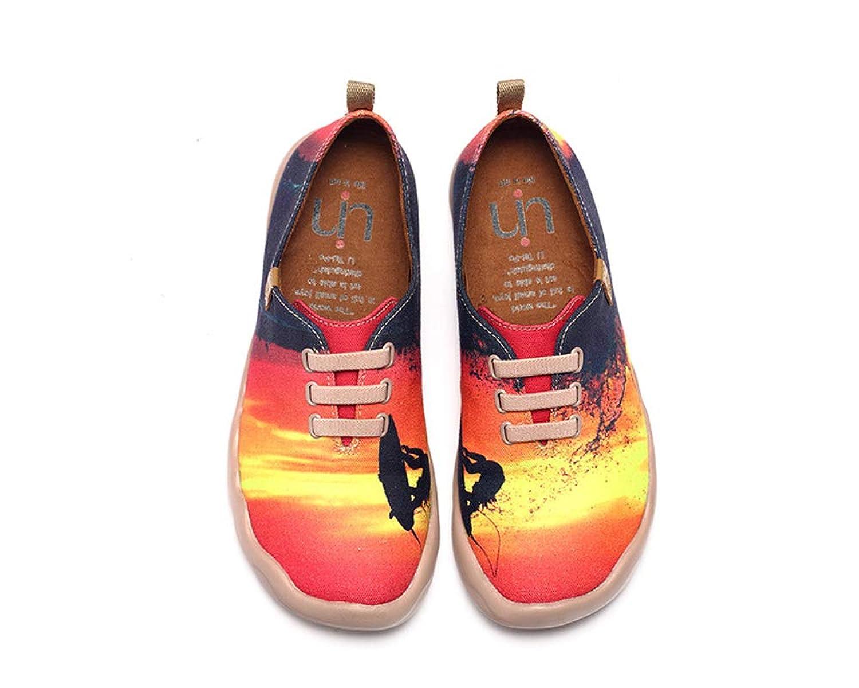 UIN Women's Jump Painted Canvas Shoes Multicolor B01LWMP3CR 6 M US
