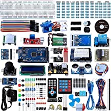 Smraza Mega 2560 Ultimate Kit for Arduino with Tutorials, Complete Starter Kit with MEGA 2560 Controller Board, Motors, Sensors, Jumper Wires, LCD Module, 9V Battery with DC (67 Items )