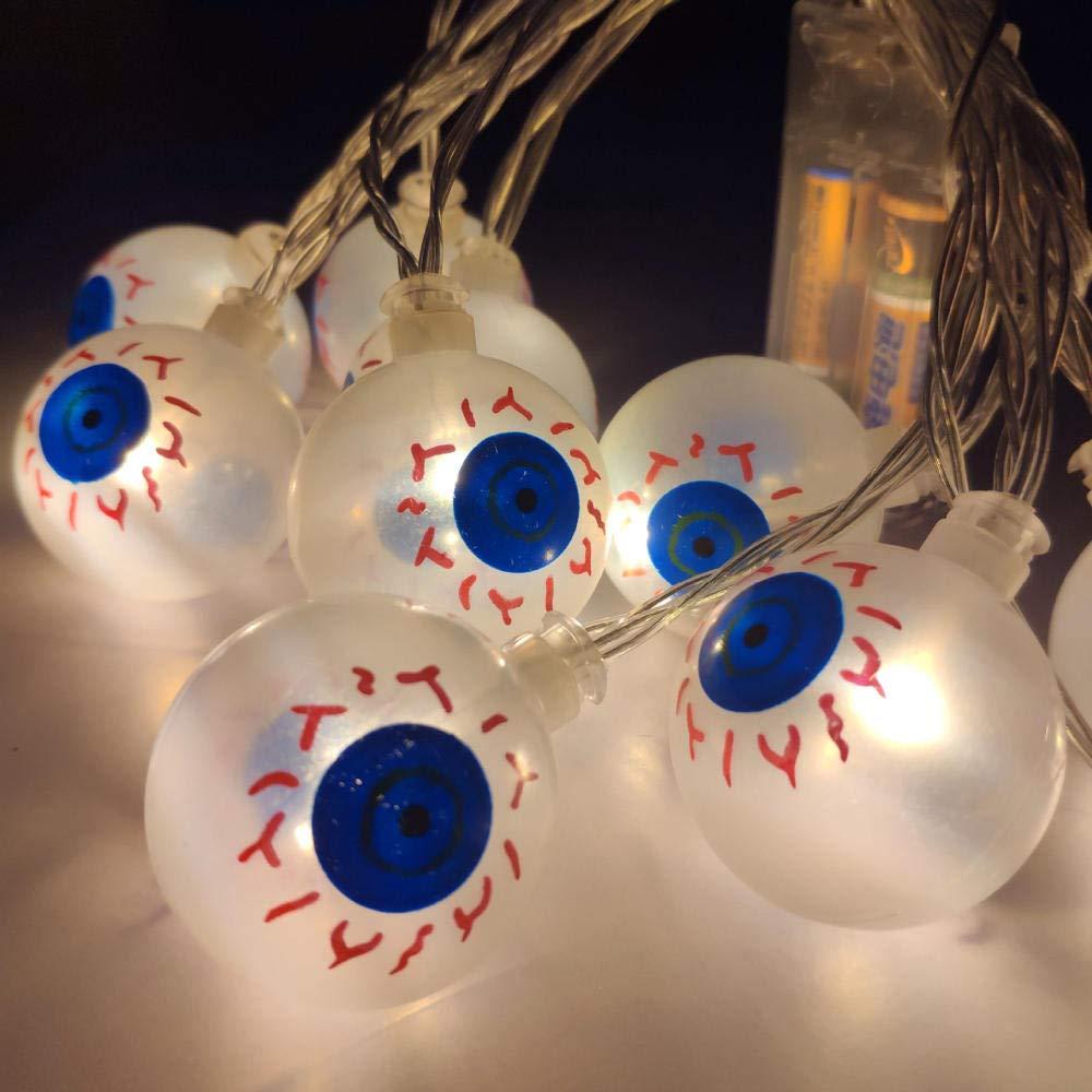 3m20LED Gyyl Globo ocular 5PCS Guirnalda Luces Pilas luces de hadas blancoo Cálido, Guirnaldas de Luces Decorativas para Navidad, Fiesta, Jardines, Casas, Boda 3m20LED