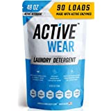 Active Wear Laundry Detergent - Formulated for Sweat and Workout Clothes - Natural Performance Wash Concentrate - Enzyme Boos