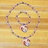 Disney Princess Necklace & Bracelet Set 2 Styles