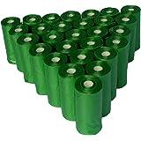 Bolsas sanitarias biodegradables para recoger popo - heces de perro Petpopis, 28 rollos con 15 bolsas cada uno, 420 bolsas to