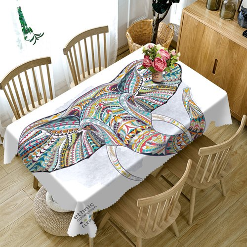 BlauLSS Anpassbare 3D-Tischdecke bunte Elefant Muster Waschbares Tuch Verdicken rechteckige und runde Tischdecke für Hochzeit, A, 60 x 120 cm B07BWHBYH5 Tischdecken Einfach zu spielen, freies Leben  | Haltbarkeit
