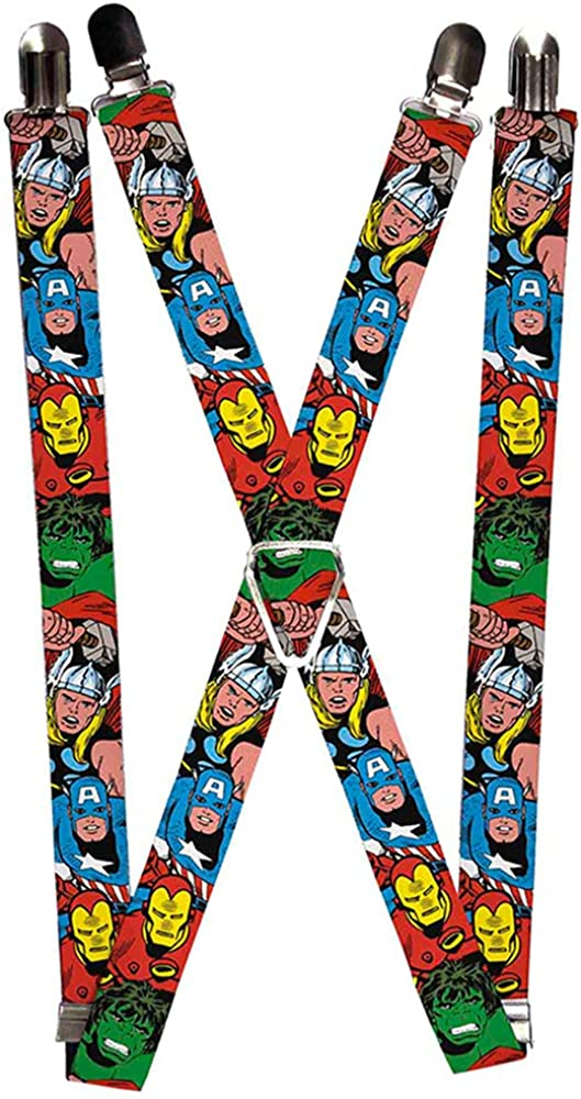 Buckle-Down mens Marvel Comics Suspenders - 1.0