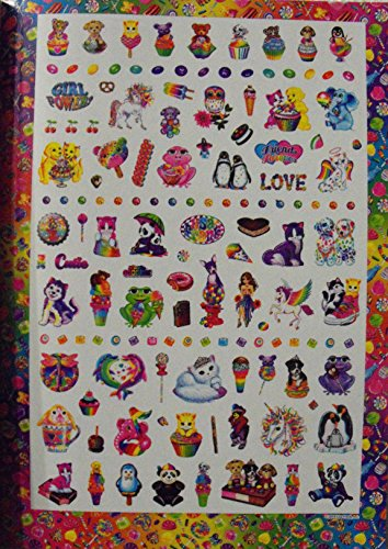 Bundle-Lisa Frank Coloring and Activity Book 80 Page with Stickers. Plus One Pack of Twist-Up Crayons