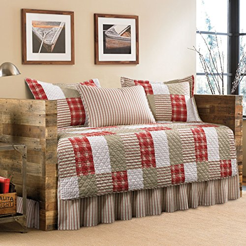 (Eddie Bauer Camano Island 5-Piece Patchwork Quilted Cotton Daybed Cover)
