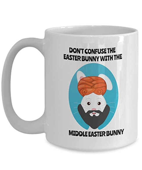 Amazon easter funny 15oz coffee mug dont confuse the easter easter funny 15oz coffee mug dont confuse the easter bunny with the middle negle Image collections