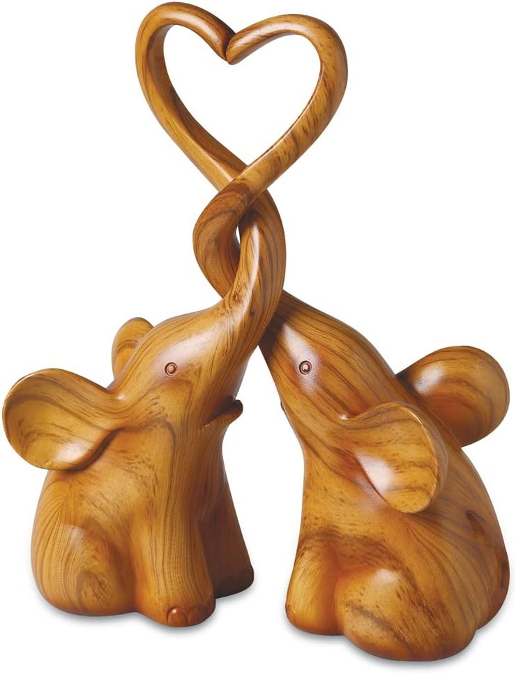 SIGNALS Two Piece Loving Elephants with Heart Sculpture - Exclusive