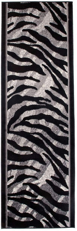 Tapis De Couloir Moderne Collection Fiesta - Couleur Gris Noir Motif Peau Des Animaux - La Meilleure Qualité - Différentes Dimensions S-XXXL 70 x 300 cm Tapiso