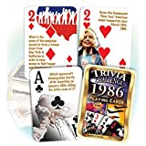 1986 Trivia Playing Cards: Great Birthday Gift or Anniversary Gift