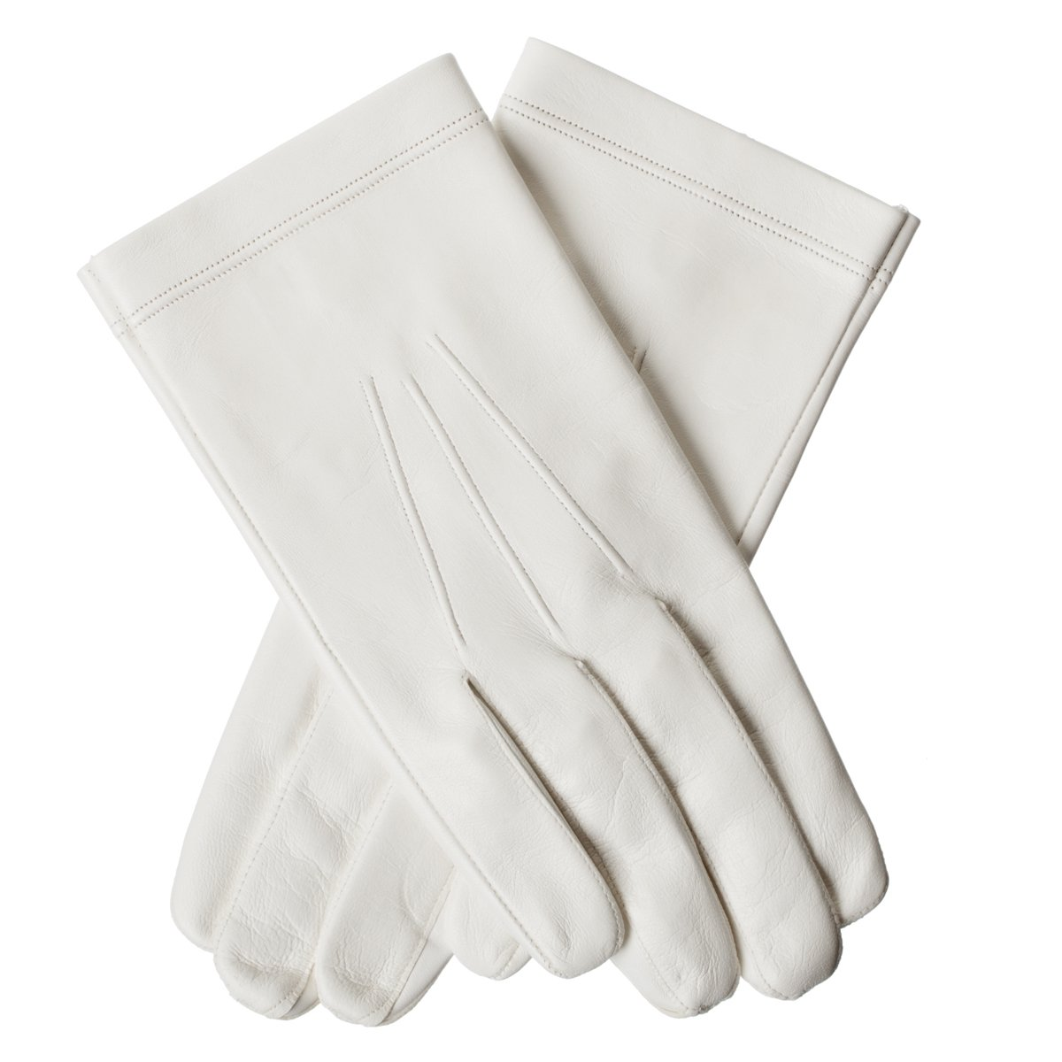 Lundorf Men's Military Officer Gloves Goatskin Unlined 10.5 White