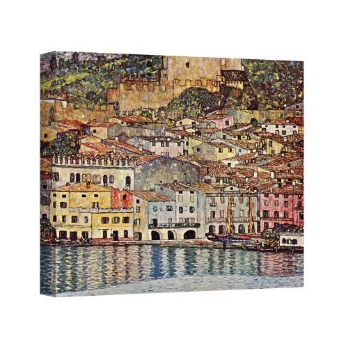 Gustav Klimt Reproductions - Art Wall Malcesina at Gardasee Gallery Wrapped Canvas by Gustav Klimt, 24 by 24-Inch