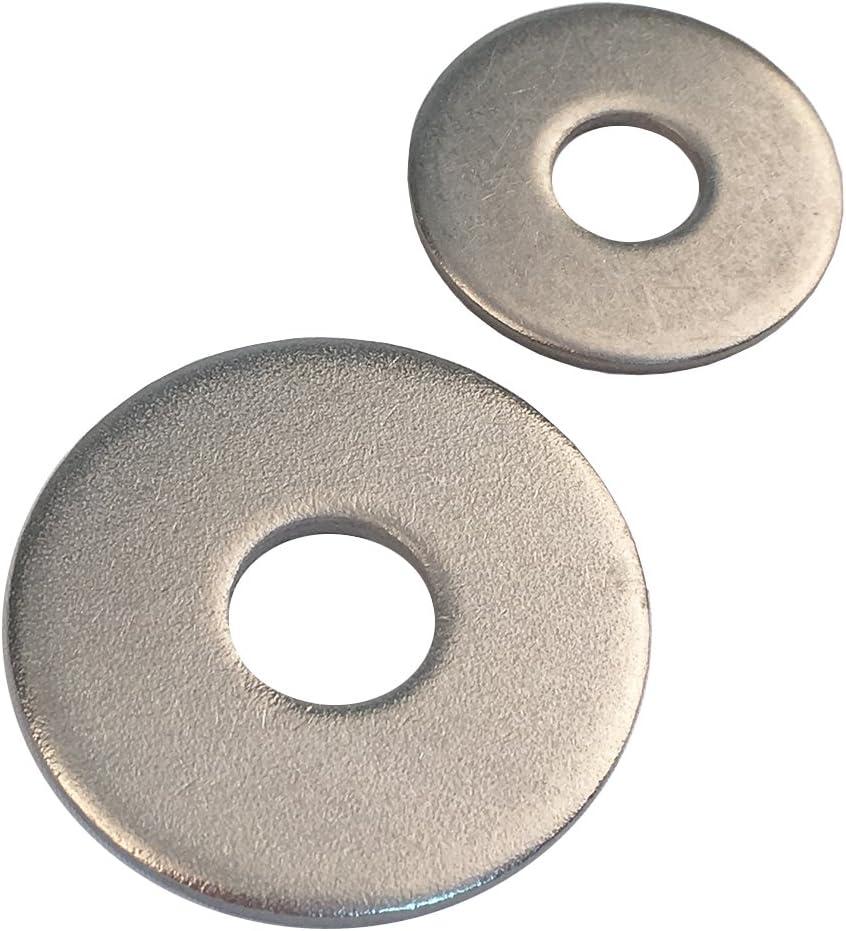 Gro/ße Unterlegscheiben M18 DIN 9021 Edelstahl A2 V2A Karosseriescheiben Beilagscheiben 5 St/ück