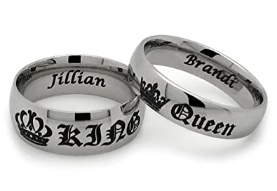 Amazoncom King And Queen Rings Couples Ring Set His And Hers