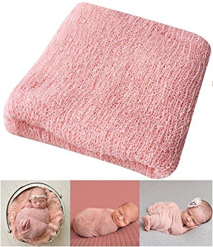 Bassion Newborn Photography Props Newborn Baby Stretch Long Ripple Wrap Yarn Cloth Blanket