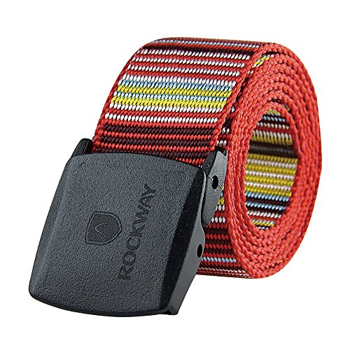 ROCKWAY Men's Nylon Belt with Plastic Buckle, Airport Friend