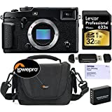 Fujifilm X-Pro2 Body Professional Mirrorless Camera + Lexar Professional 633x 32GB SDHC UHS-I/U3 + Lowepro Shoulder Bag + Spare Battery + Tiffen Lens Cleaning Paper Kit + Card Reader Writer Bundle