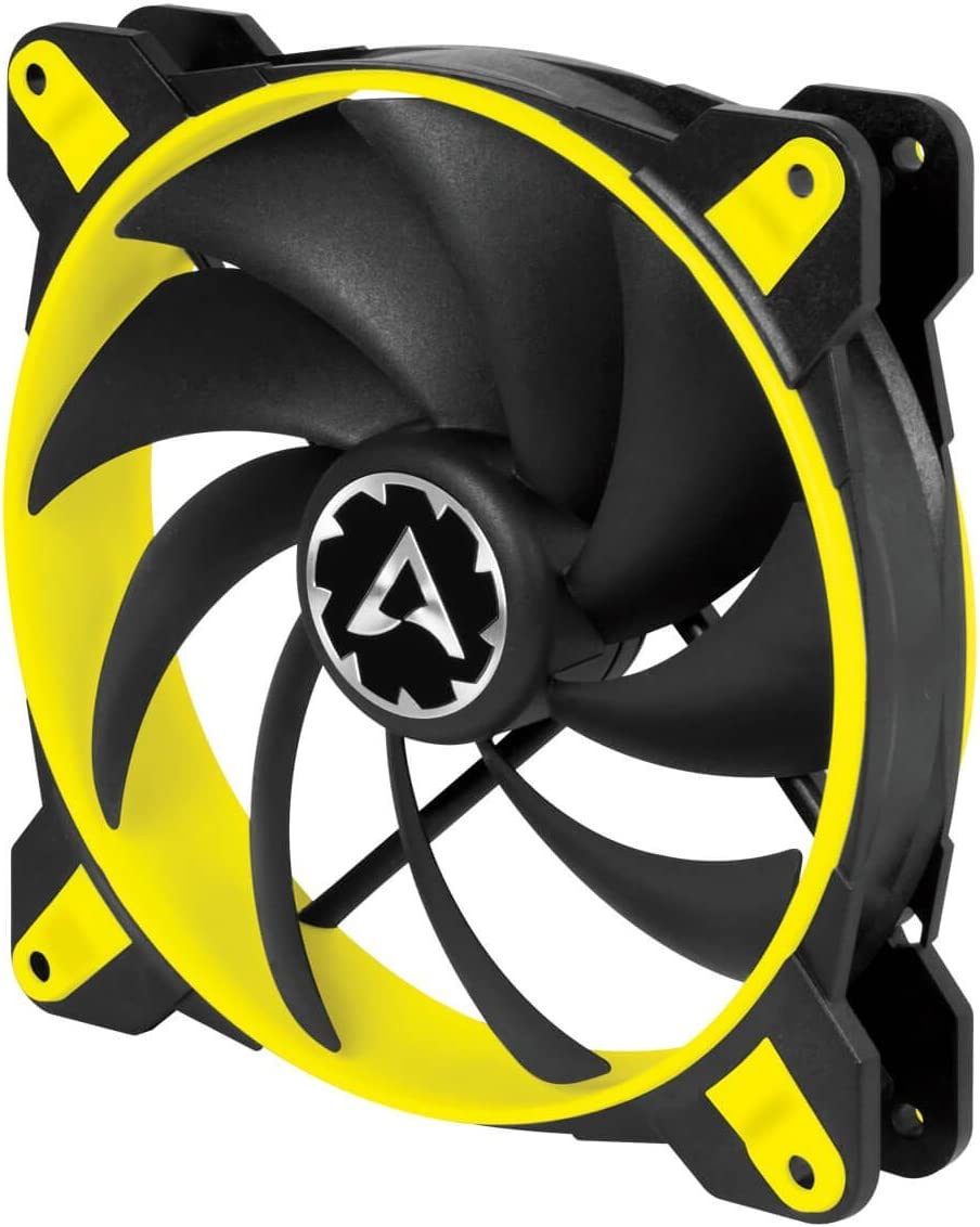 ARCTIC BioniX F120-120 mm Gaming Case Fan with PWM PST Cooling Fan with PST-Port (PWM Sharing Technology) Regulates RPM in sync - Yellow